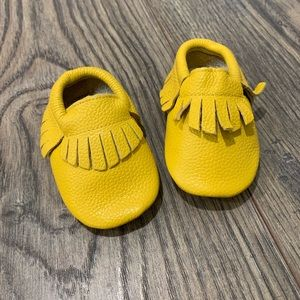 Other - Mustard baby moccasins